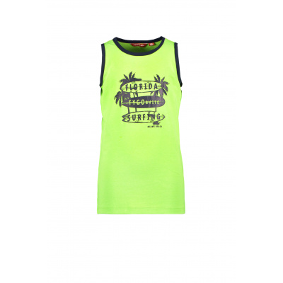 T&v Singlet FLORIDA SURFING (Safety yellow)