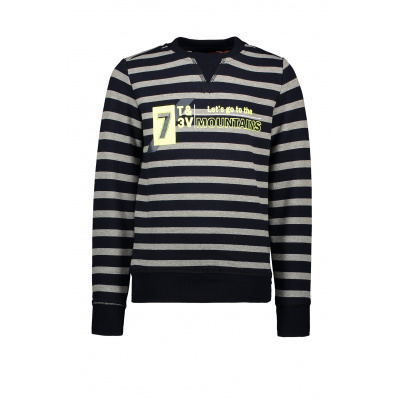 T&v sweater stripe Mountains