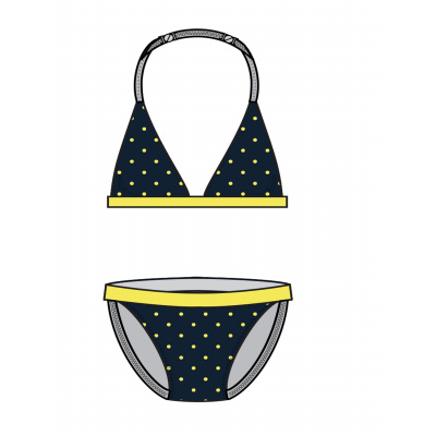 NAME IT - NKFZELESTE TRIANGLE BIKINI (Dark Sapphire)