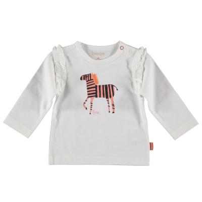 Bess Shirt l. sl. Zebra Ruffles