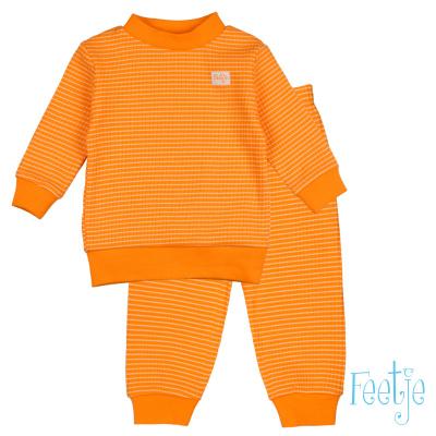 Feetje Pyjama Wafel Orange