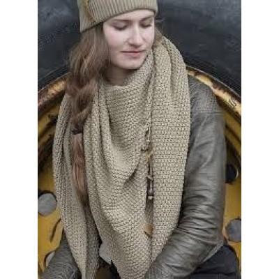 Knitfactory Coco shawl olijfgroen
