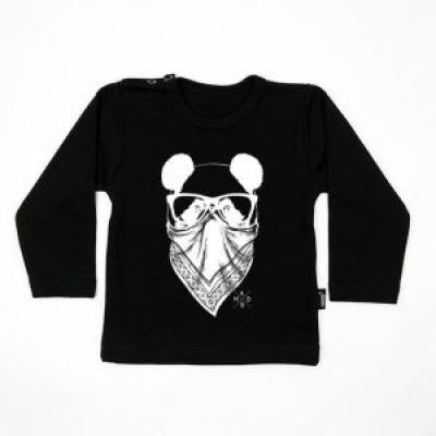 KMDB Longsleeve Pandaba in White / Black