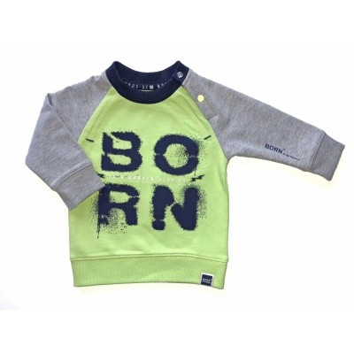 Born to be Famous-Neon Yellow Whit/ Grey Sleeve