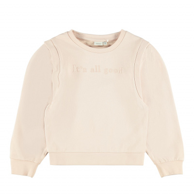 NAME IT - NKFBERIE LS SWEAT UNB (Peach Whip)
