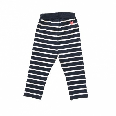 Born To Be Famous Legging Navy Stripe