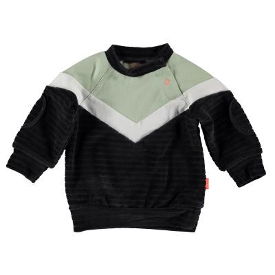 Bess Sweater Velvet Colorblock