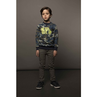 T&v sweater AOP CAMOUFLAGE NEVER GIVE UP