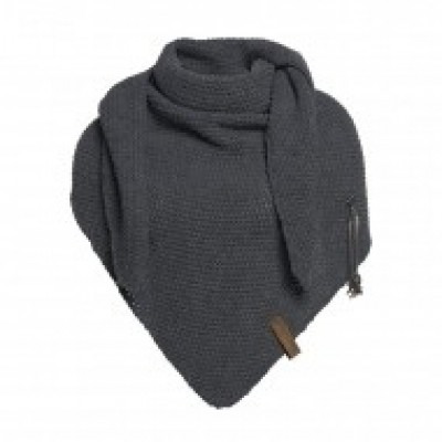 Knitfactory sjaal Antraciet