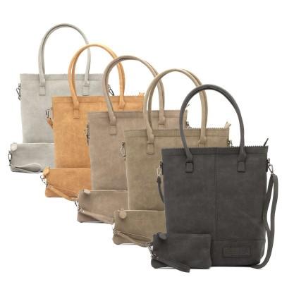 Zebratrends Natural bag met rits in 5 kleuren