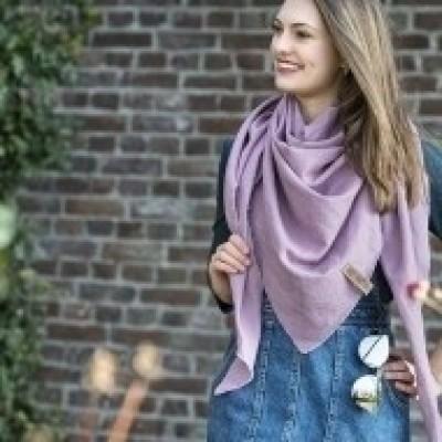 Knitfactory omslagdoek Jill (4 kleuren)