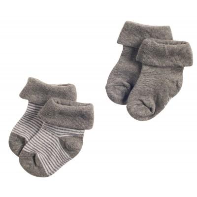 Noppies Socks 2pack Guzz Antracite