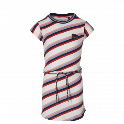 QUAPI FAB Jurk (White Multi Stripe)