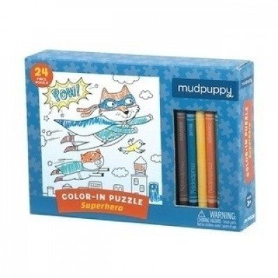 Mudpuppy | Color-in Puzzle