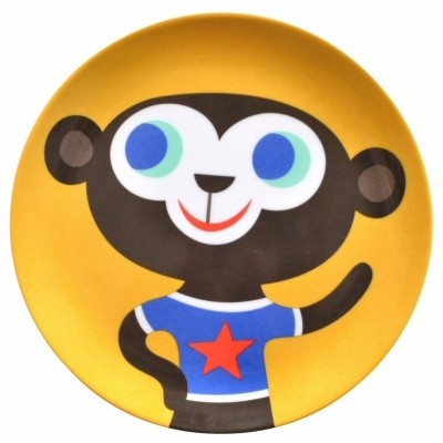Foto van Petit Monkey | Melamine bord | Aap