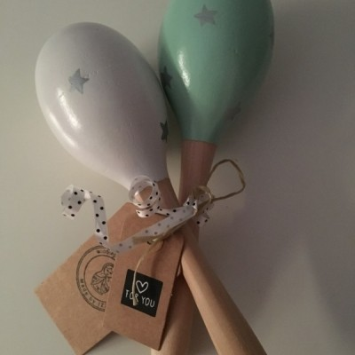 Woodenprincess | Maracas | Mint en Wit