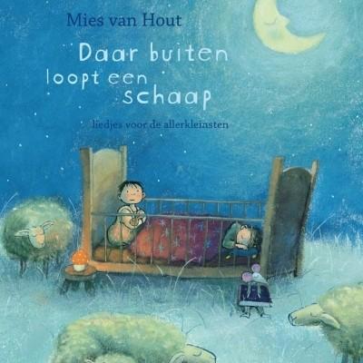 Foto van Mies van Hout | Daar buiten loopt een schaap | Prentenboek met CD