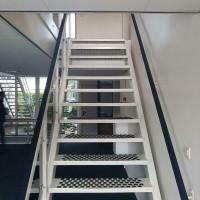Afbeelding van IJzeren / metalen trap met leuning