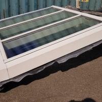 Afbeelding van Aluminium raamkozijn met dubbelglas