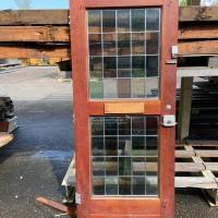 Afbeelding van Hardhouten voordeur met brievenbus en glas & lood