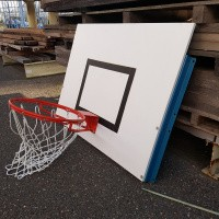 Afbeelding van 4 stuks Basketbal borden sport hal wandmontage.