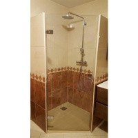 Afbeelding van Glazen douche deuren