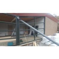 Afbeelding van 3 Stuks aluminium kozijnen voor erker of terras
