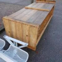 Afbeelding van Steigerhouten schap bar tafel