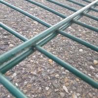 Afbeelding van Dubbelstaafs groen hek