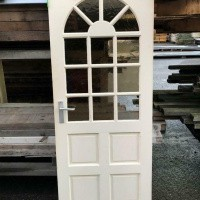 Afbeelding van Hardhouten deur enkelglas