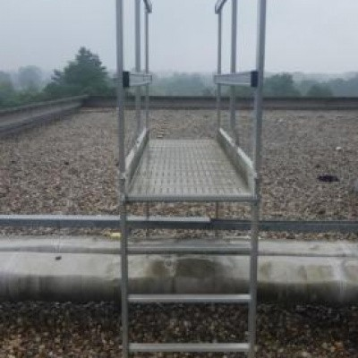 Foto van Aluminium trap bovenloop