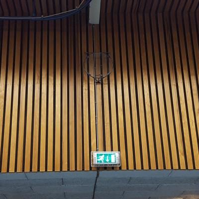 Foto van Redcedar gevelbekleding open gevel planken / latten