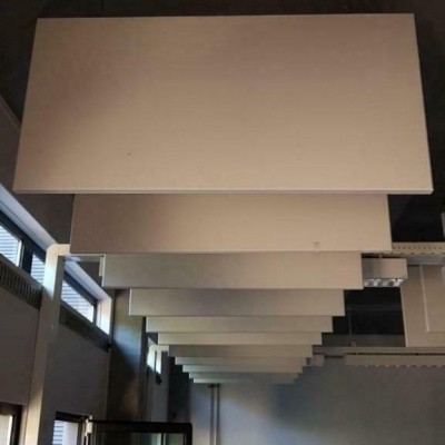 Foto van Geluidsdempende acoutische plafond platen