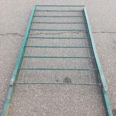 Foto van Dubbelstaafs groen hek