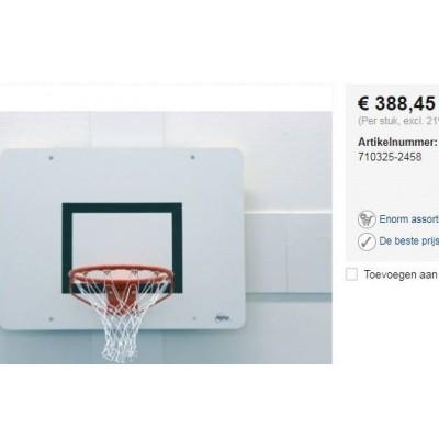 Foto van 4 stuks Basketbal borden sport hal wandmontage.