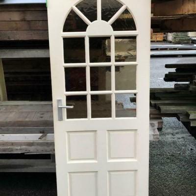 Hardhouten deur enkelglas