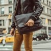 Image of Leather Laptop Bag Brown Richard