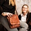 Image of Leather Shoulder Bag Cognac Aida