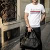 Image of Leather Travelbag Black Avan