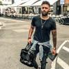 Image of Leather Laptop Bag Anthracite Black Label Johnny