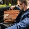 Image of Leather Briefcase Cognac Aberdeen