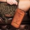 Image of Leather Wallet Cognac Black Label Inga