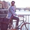 Image of Leather Weekend Bag Brown Wesley