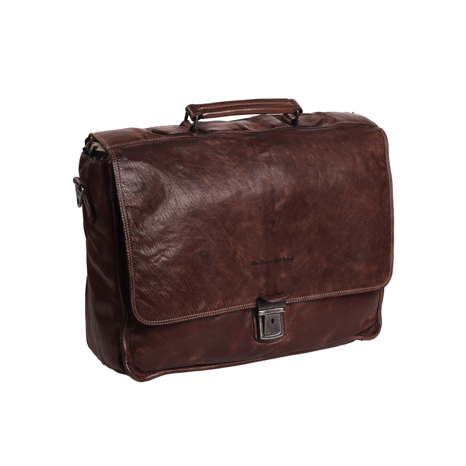 6029808a40 Leather Briefcase Brown Aberdeen