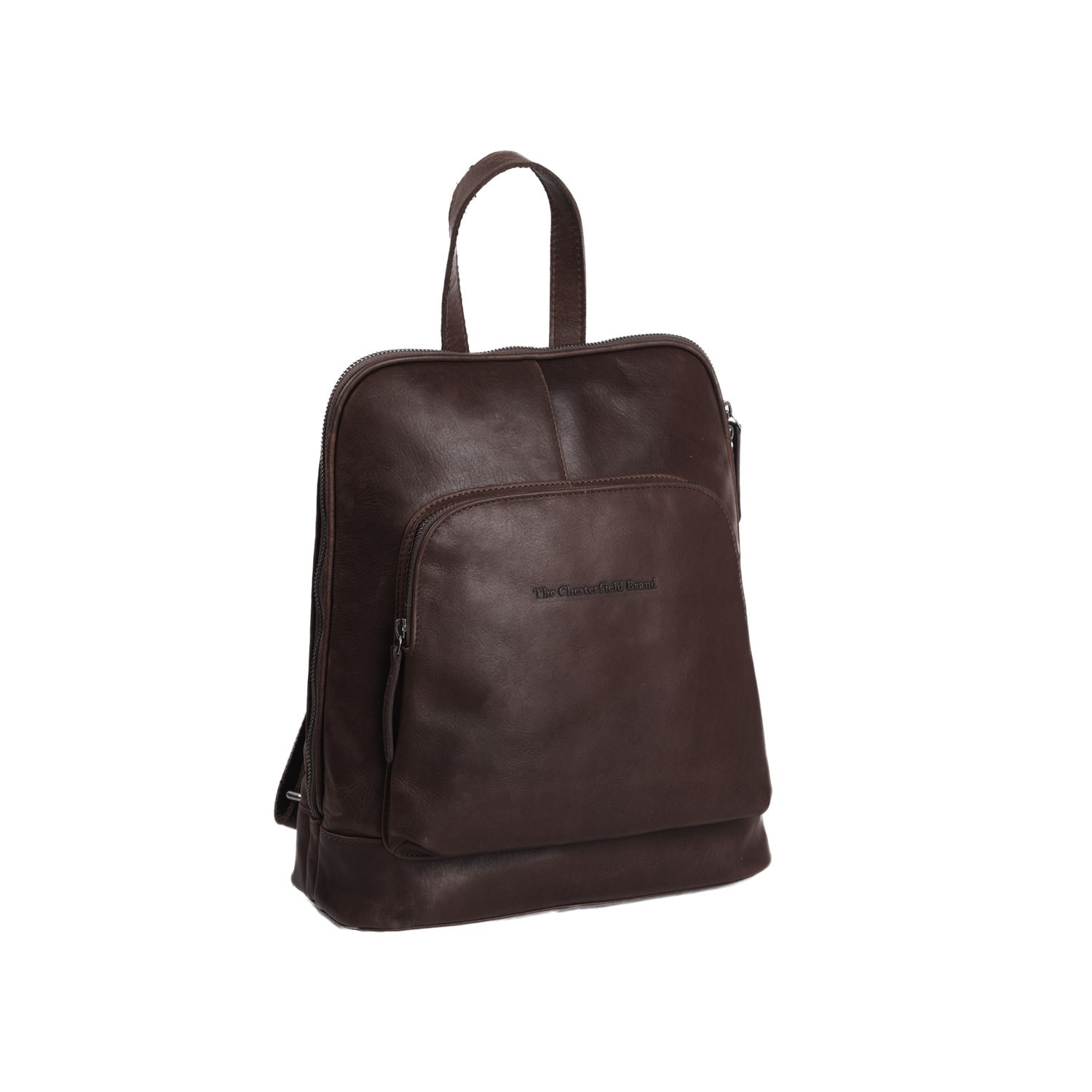 Image of Chesterfield Leather Backpack Brown Naomi