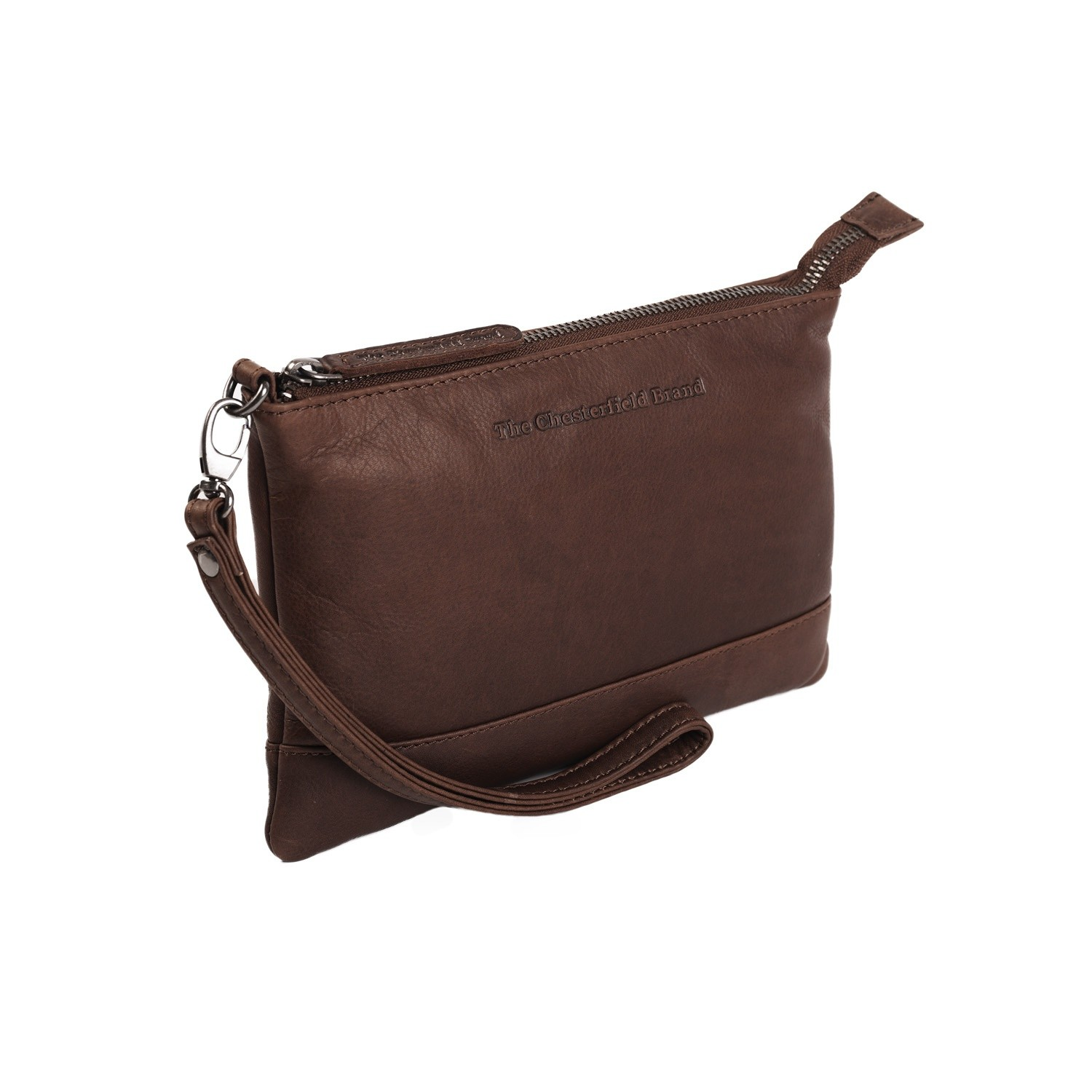 Bilde av Chesterfield Leather Clutch Brown Sue