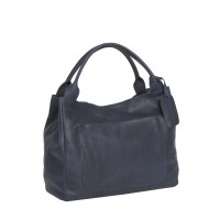 Leather Handbag Navy Cardiff Navy