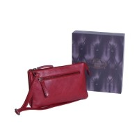 Leather Shoulder Bag Red Nia Red