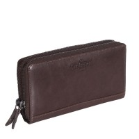 Leather Wallet Brown Zoe Brown