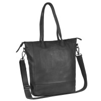 Leder Shopper Black Label Anthrazit Lily Anthrazit